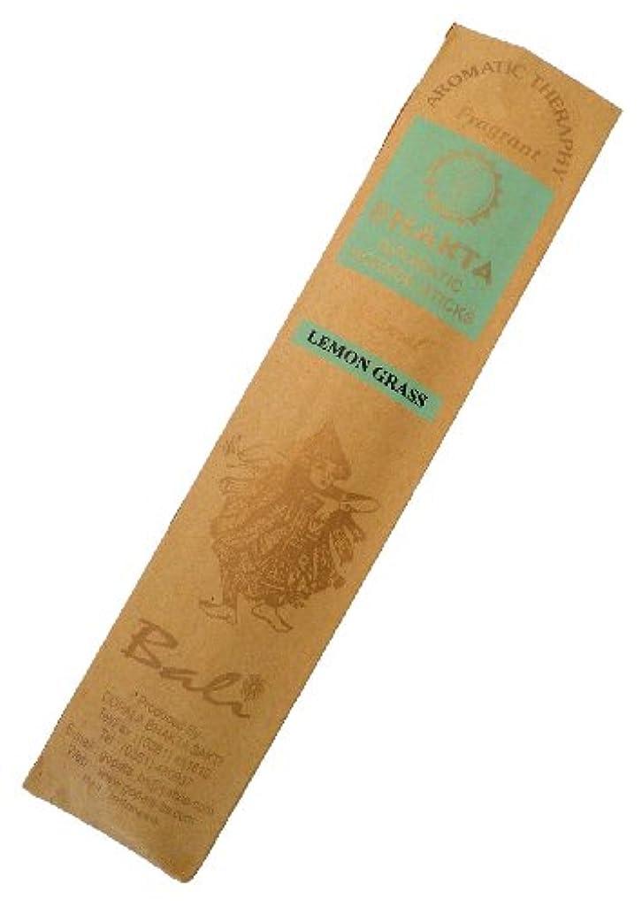 欠席限界大洪水お香 BHAKTA ナチュラル スティック 香(レモングラス)ロングタイプ インセンス[アロマセラピー 癒し リラックス 雰囲気作り]インドネシア?バリ島のお香