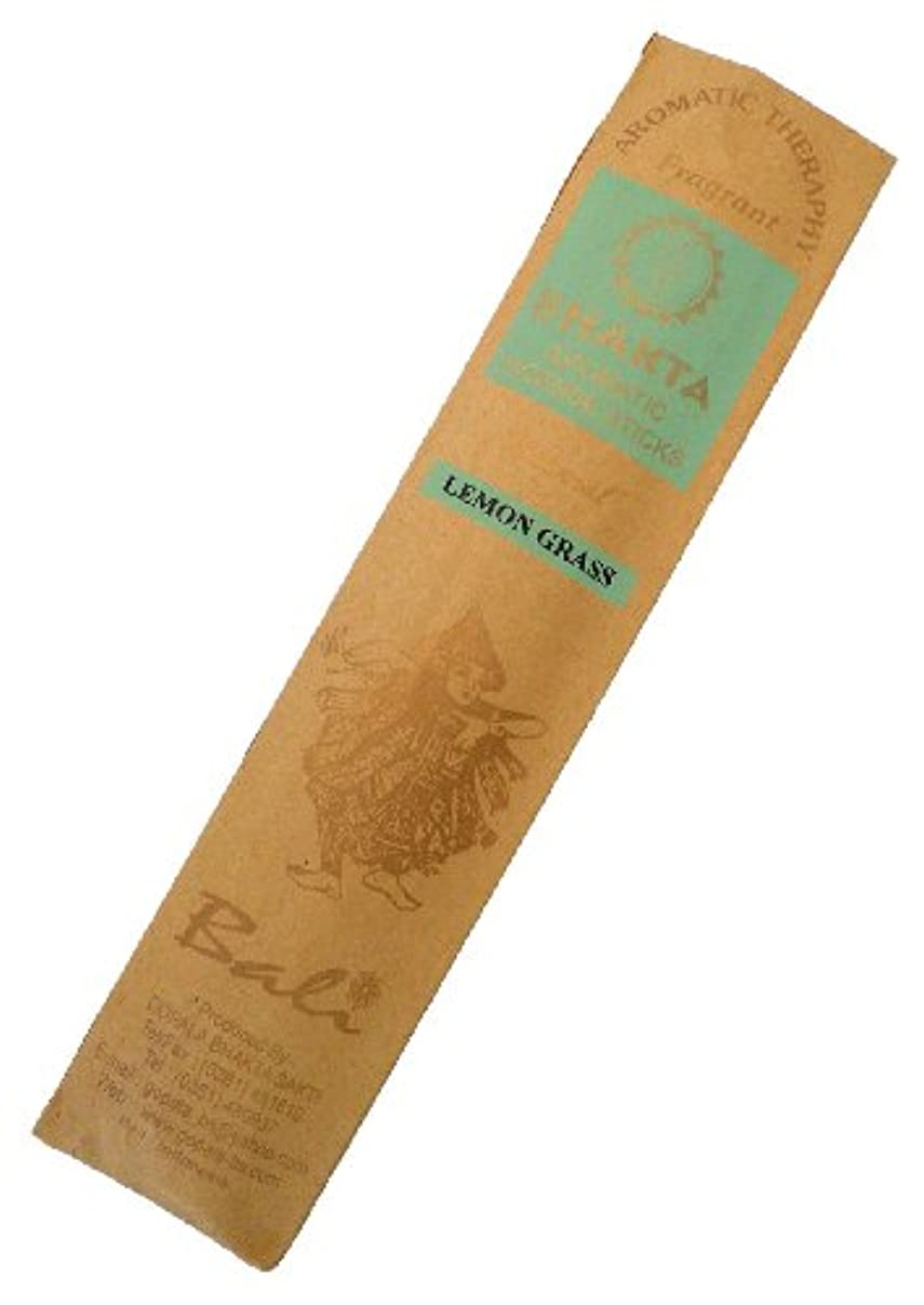 持続的スムーズに代数的お香 BHAKTA ナチュラル スティック 香(レモングラス)ロングタイプ インセンス[アロマセラピー 癒し リラックス 雰囲気作り]インドネシア・バリ島のお香