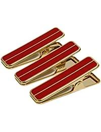 ≪着付け用≫ きものクリップ ハンディクリップ 真鍮製 赤・白 (大3個セット or 小4個セット) 日本製