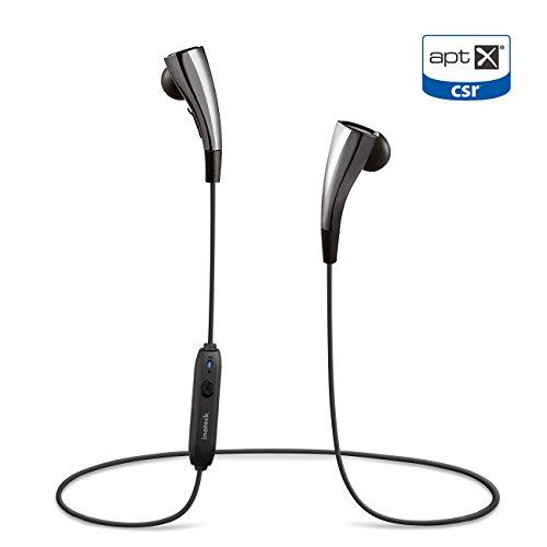 Inateck Bluetooth 4.1 ステレオ インイヤーヘッドフォン iPhone、Samsungなどのios/Androidスマートフォンに対応、AptX&防風雨に対応、リモート操作&最大8時間バッテリ使用可能 インラインマイク付き キャリングケース付き