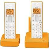 シャープ デジタルコードレス電話機 子機1台付き 1.9GHz DECT準拠方式 オレンジ系 JD-S06CW-D