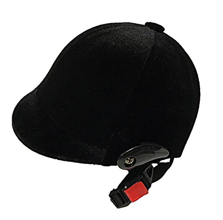 【World L&O】ヘルメット 乗馬 馬術 馬具 スウェード 帽子 ぼうし 調整可能 プロテクター 高級感 気品漂う逸品★