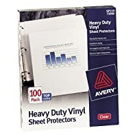 Avery top-loadビニールシートプロテクター、ヘビーゲージ、法的、クリア、50/ボックス