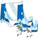 夏のマリンブルー装飾 青空カモメサマーペナント2連ハンガー 22361