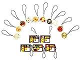 キーホルダー ストラップ 食品 サンプル 中華 10個 & 寿司 5個 おもしろ 弁当 ミニ 食べ物 中華料理 和食