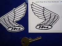 Honda 68 - 73 Style Wing Stickers ホンダ ウィング ステッカー シール デカール バイク 75mm × 75mm 2枚セット [並行輸入品]