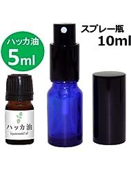ガレージ?ゼロ ハッカ油 5ml(GZAK11)+ガラス瓶 スプレーボトル10ml/和種薄荷/ジャパニーズミント GSE532