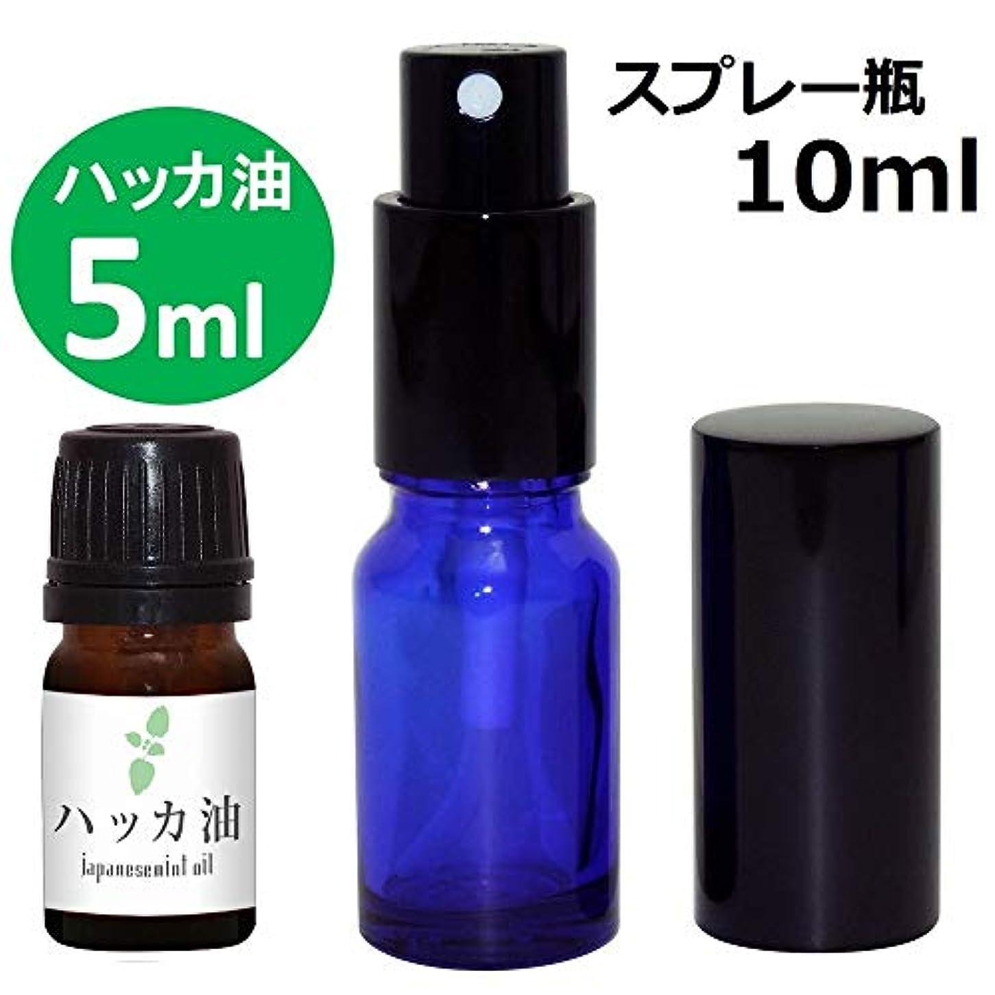 鹿ドナーしたがってガレージ?ゼロ ハッカ油 5ml(GZAK11)+ガラス瓶 スプレーボトル10ml/和種薄荷/ジャパニーズミント GSE532