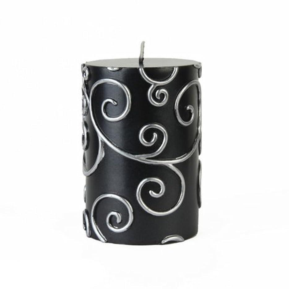 プロテスタントアデレード過度のZest Candle CPS-001_12 12-Piece Scroll Pillar Candle, 3' x 4', Black [並行輸入品]