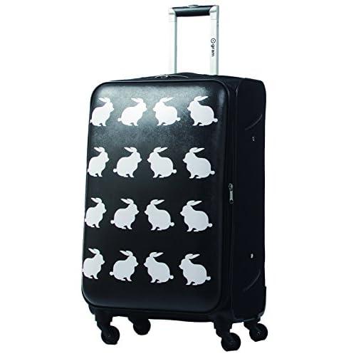 [グリフィンランド]_Griffinland ソフト スーツケース キャリーバッグ バニーバニー Ogram (S(小型), ブラック)