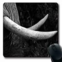 マウスパッドアブストラクト閉じる象公園牙野生動物象自然アフリカーナ楕円形7.9 X 9.5インチ楕円形ゲーミングマウスパッド滑り止めラバーマット