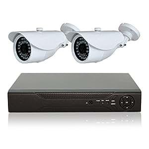 防犯カメラセット 監視カメラ 248万画素 AHD 防犯カメラ2台+AHD録画対応 1TB HDDレコーダー セット 屋外 防水 暗視 遠隔監視 HD ハイビジョン