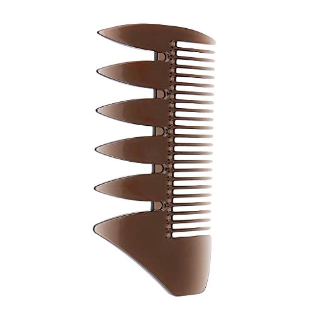 厚くする保証するチョコレートヘアブラシ 櫛 セクショニング ハイライト ヘアカラーリング用 コーム