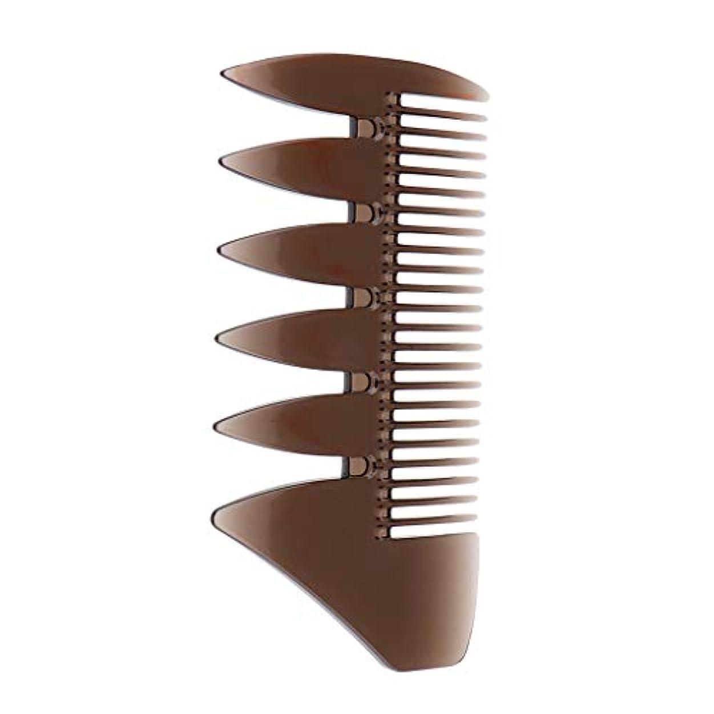省尊敬するより多いF Fityle ヘアコンビ デュアルサイド メンズ オイルヘアピック サロン ヘアスタイリング 櫛 ヘアブラシ