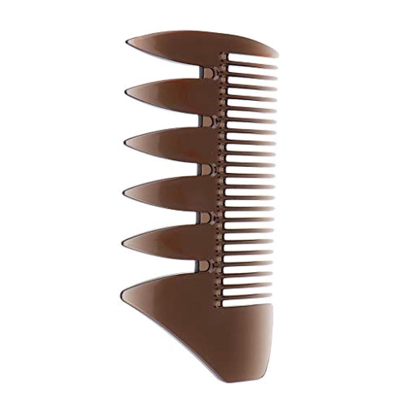 開梱病気のミリメートルF Fityle ヘアコンビ デュアルサイド メンズ オイルヘアピック サロン ヘアスタイリング 櫛 ヘアブラシ