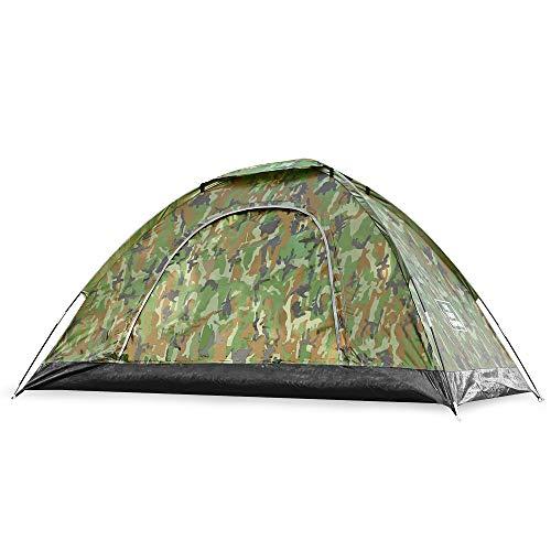 THE FIRST CAMPING キャンプ テント アウトドア 軽量 テント 防水 2人 日除け テント 防風 簡単 海・公園・花見・ツーリング用 (迷彩柄)