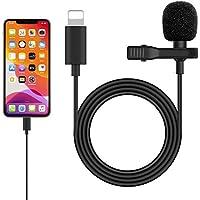 iPhone iPad マイク コンデンサーマイク クリップ式 高音質 全方向性 録音/カラオケ/撮影/YouTube動…