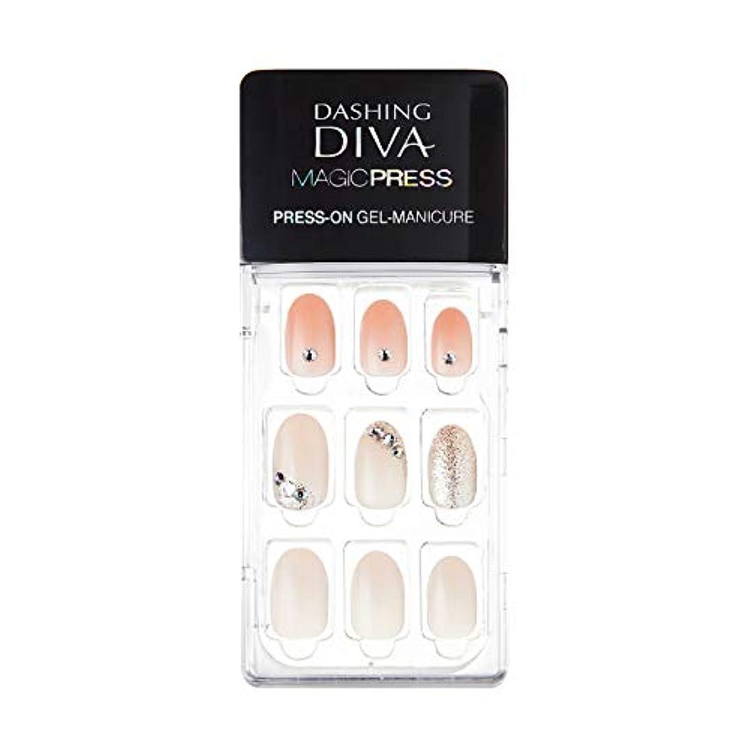 収容する給料協同ダッシングディバ マジックプレス DASHING DIVA MagicPress MJP_035-DURY+ オリジナルジェル ネイルチップPurity Jewel