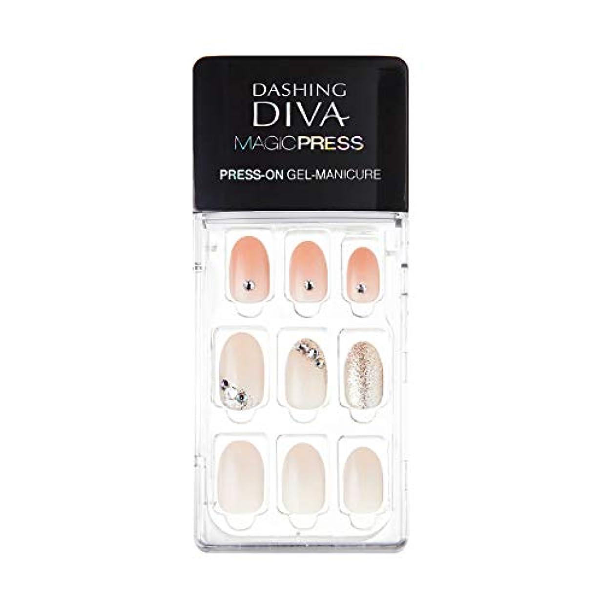 居間まつげダーツダッシングディバ マジックプレス DASHING DIVA MagicPress MJP_035-DURY+ オリジナルジェル ネイルチップPurity Jewel