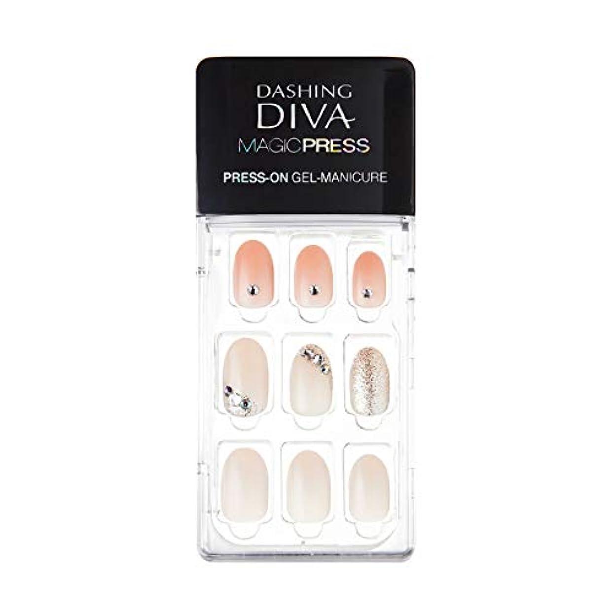 報復する麻痺させる伝えるダッシングディバ マジックプレス DASHING DIVA MagicPress MJP_035-DURY+ オリジナルジェル ネイルチップPurity Jewel