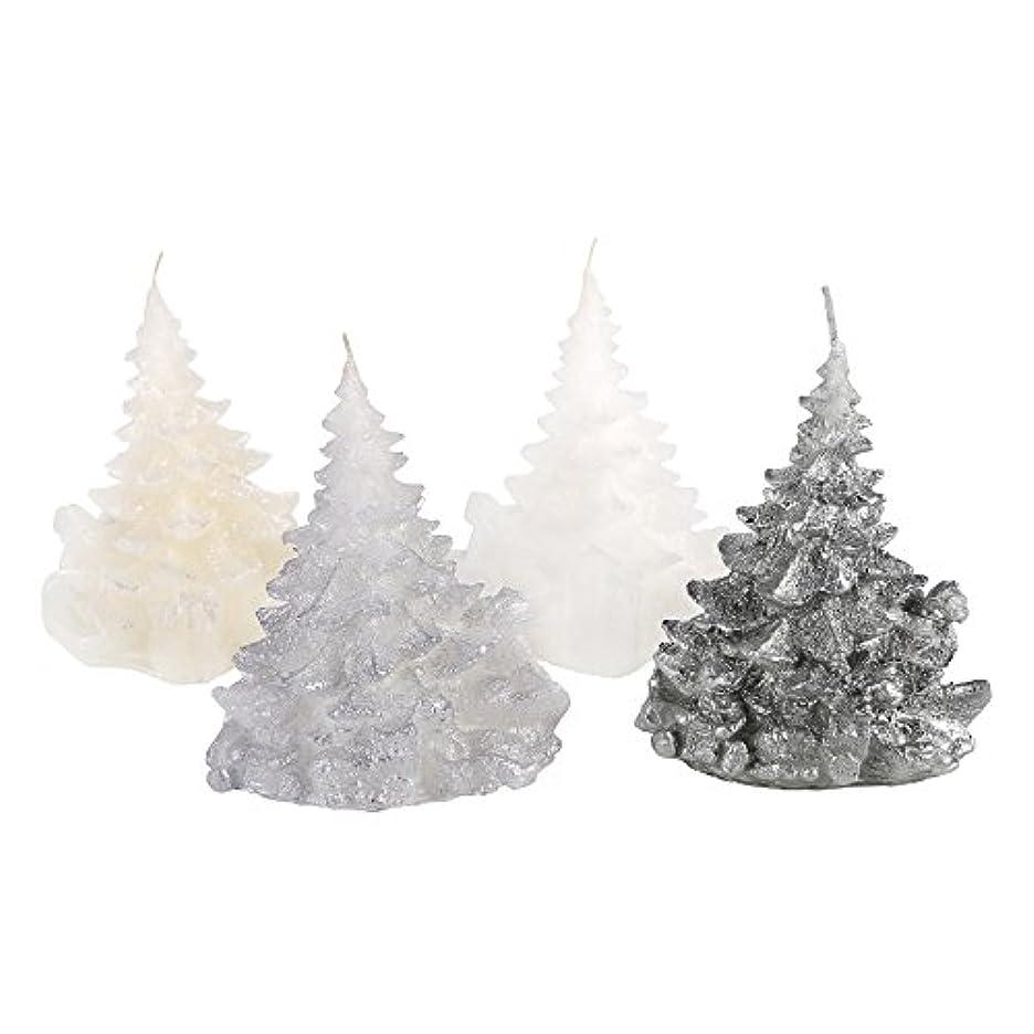 良心的贅沢うねるCandle Atelierハンドメイド休日キャンドル Merry Christmas Trees 4F1-CTP1VTW-0SP