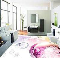 Wapel 壁画の 1141 d 壁紙カスタム サイズ ビニル壁紙 3 D 抽象的なファッション ファンタジー花 3 D 床防水フロアー リングの壁画装飾ホーム 250x175cm