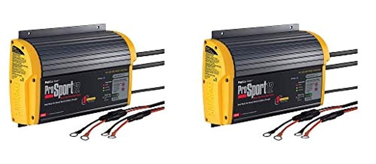 終点ラケット意図ProMariner 43012 ProSport 12 12アンペア 12/24ボルト 2バンク ジェネレーション 3バッテリー充電器