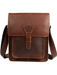 (チョウギュウ)潮牛 ビンテージ 本革 メンズ ショルダーバッグ 斜め掛け iPad対応 ヌメ革 厚手牛革 鞄