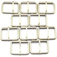 """Pro Bamboo Kitchen 11pcs Silver Belt Pin Buckle Adjustable Rectangle Ring Tri-Glide Buckle 1-14"""" Inner Diameter"""