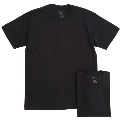 (ヘインズ)Hanes 2P クルーネックTシャツ HBJ1-002N-090 090 ブラック L