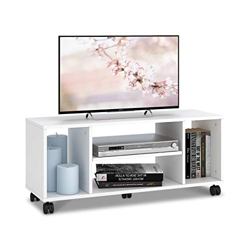 DEVAISE テレビ台 テレビラック テレビボード ローボード キャスター付き 移動便利 40インチまで対応 コーナー 幅900mm コンパクト 省スペース型 簡単組立 一年保証 ホワイト WF0013A