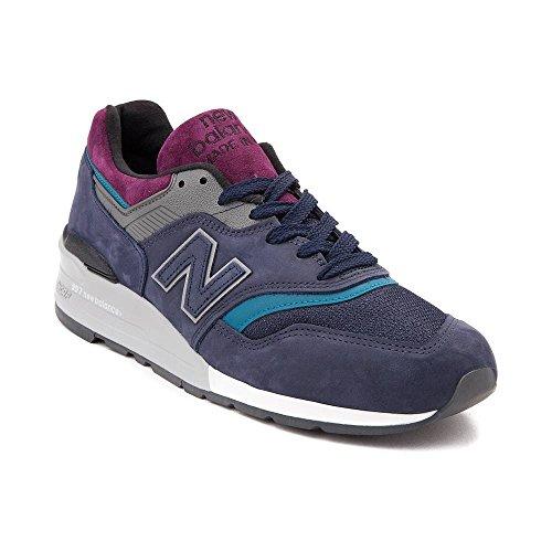 (ニューバランス) New Balance 靴・シューズ レディーススニーカー Mens New Balance 997 Athletic Shoe Navy/Gray ネイビー/グレー US 8 (26cm)