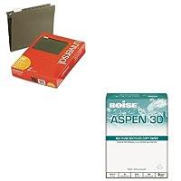 kitcas054901punv14115–Valueキット–Boiseアスペン30%リサイクルオフィス用紙( cas054901p )とユニバーサルHangingファイルフォルダ( unv14115)