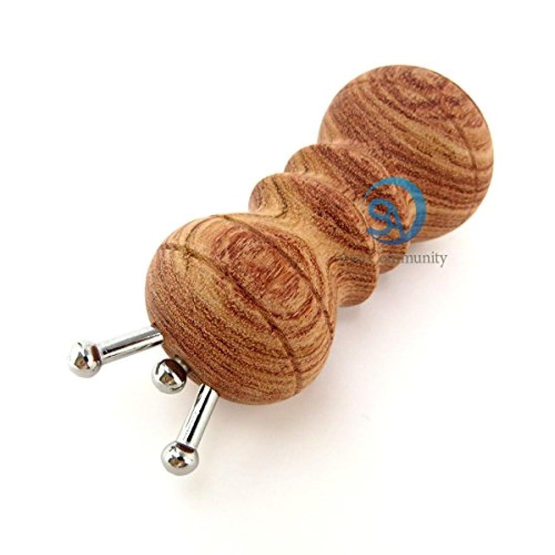 最終的に騒乱応用かっさ 無痕かっさ 天然花梨木 (カリボク) 磁石付き マッサージ器