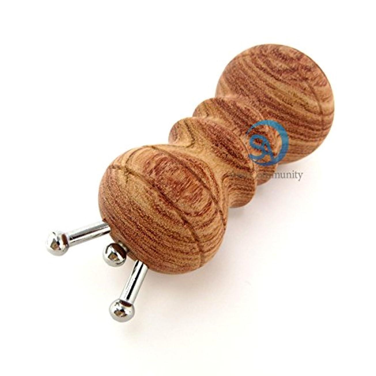 親地震聞きますかっさ 無痕かっさ 天然花梨木 (カリボク) 磁石付き マッサージ器