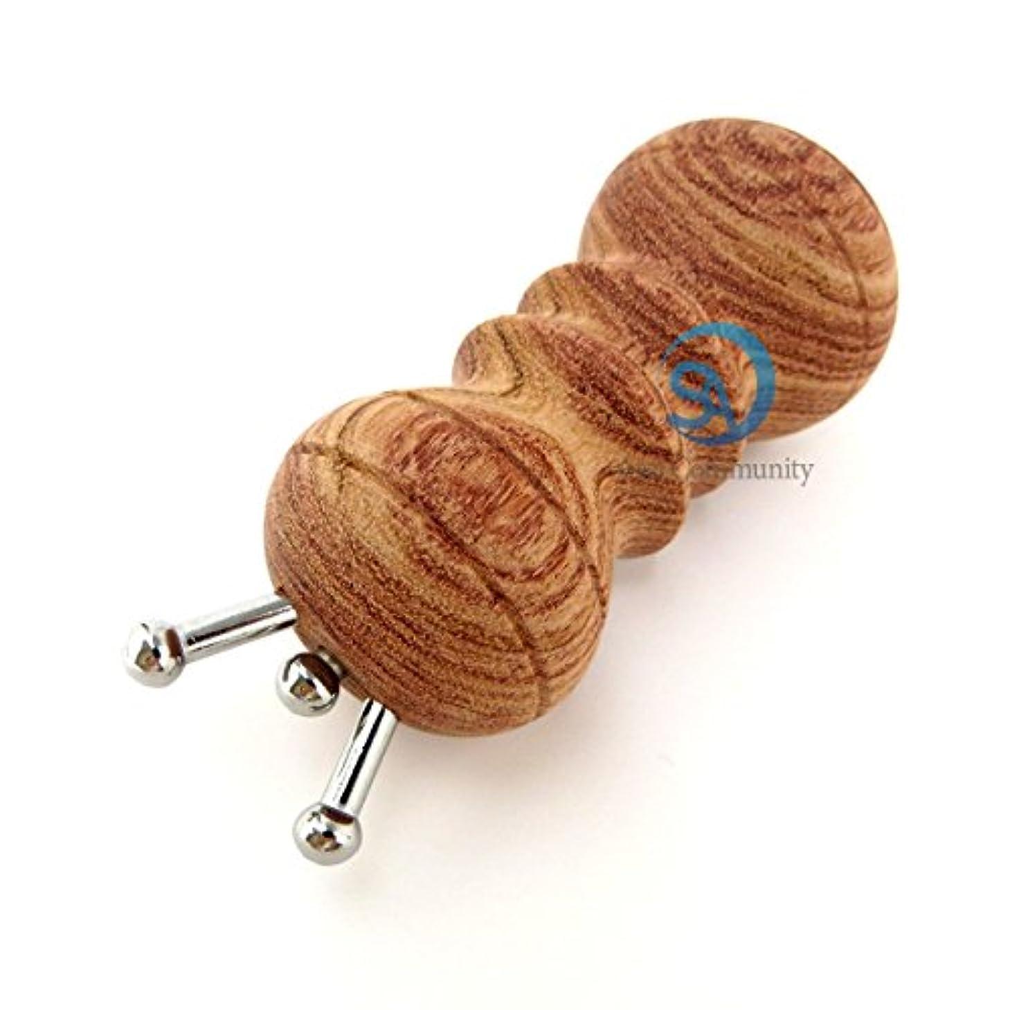 数値引き渡すアサートかっさ 無痕かっさ 天然花梨木 (カリボク) 磁石付き マッサージ器