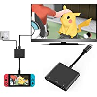 Anikks Nintendo Switch 専用 3In1 Type-C to HDMI変換アダプタ ドックセット HDMI変換 テレビ コンピューターに出力 高速充電対応 小型 持ち運びに便利 多機能変換アダプター Macbook Chromebook Android適用