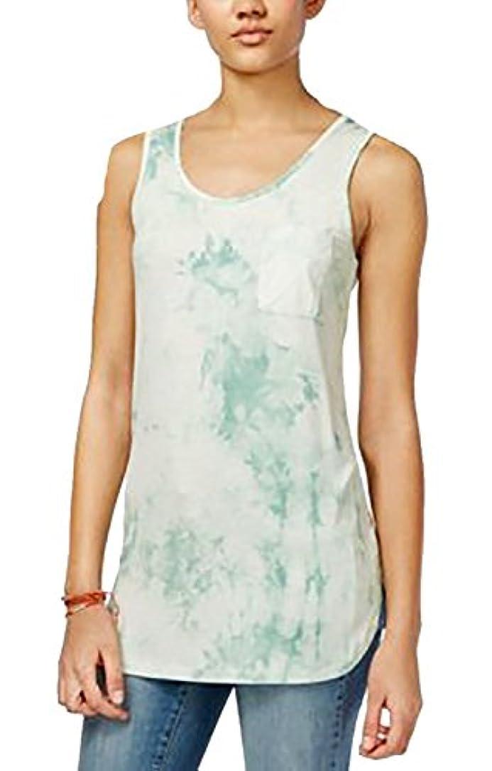 保険をかける力学アテンダントSay What Women's Juniors Sleeveless Tie-Dyed Tank Top Beach Glass Small [並行輸入品]