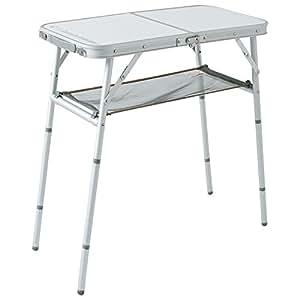 キャンパーズコレクション 4WAYフリーテーブル(幅80奥行40) TWF-4080-4S(W)