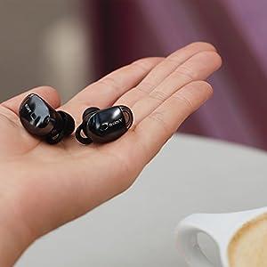 ソニー SONY 完全ワイヤレスノイズキャンセリングイヤホン WF-1000X : Bluetooth対応 左右分離型 マイク付き 2017年モデル ブラック WF-1000X B