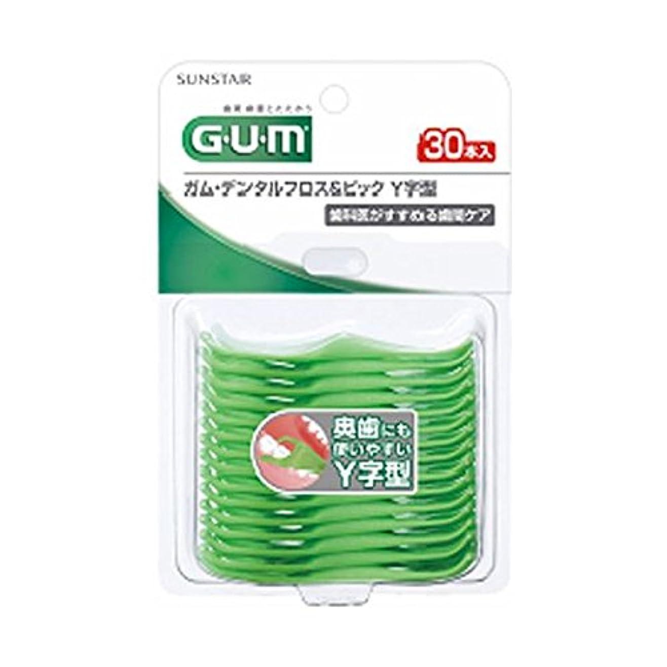 幻影椅子上級【お徳用 6 セット】 GUM(ガム) デンタルフロス&ピック Y字型 30本入×6セット