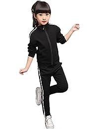 d31959ed4f21c Zetoon ジャージ スポーツウェア こども 男の子 女の子 カジュアルスーツ アウターコート ロングパンツ スウェット 春秋 子供服 男女兼用 運動着  二点セット 上下…