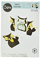 Sizzix 661137 Card Fox Label Fold-a-Long Thinlits Die Set by Jen Long by Sizzix