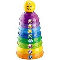 wenasiレインボーStackingカップゲーム赤ちゃん早期教育幼児玩具カラフルなプラスチックタワー