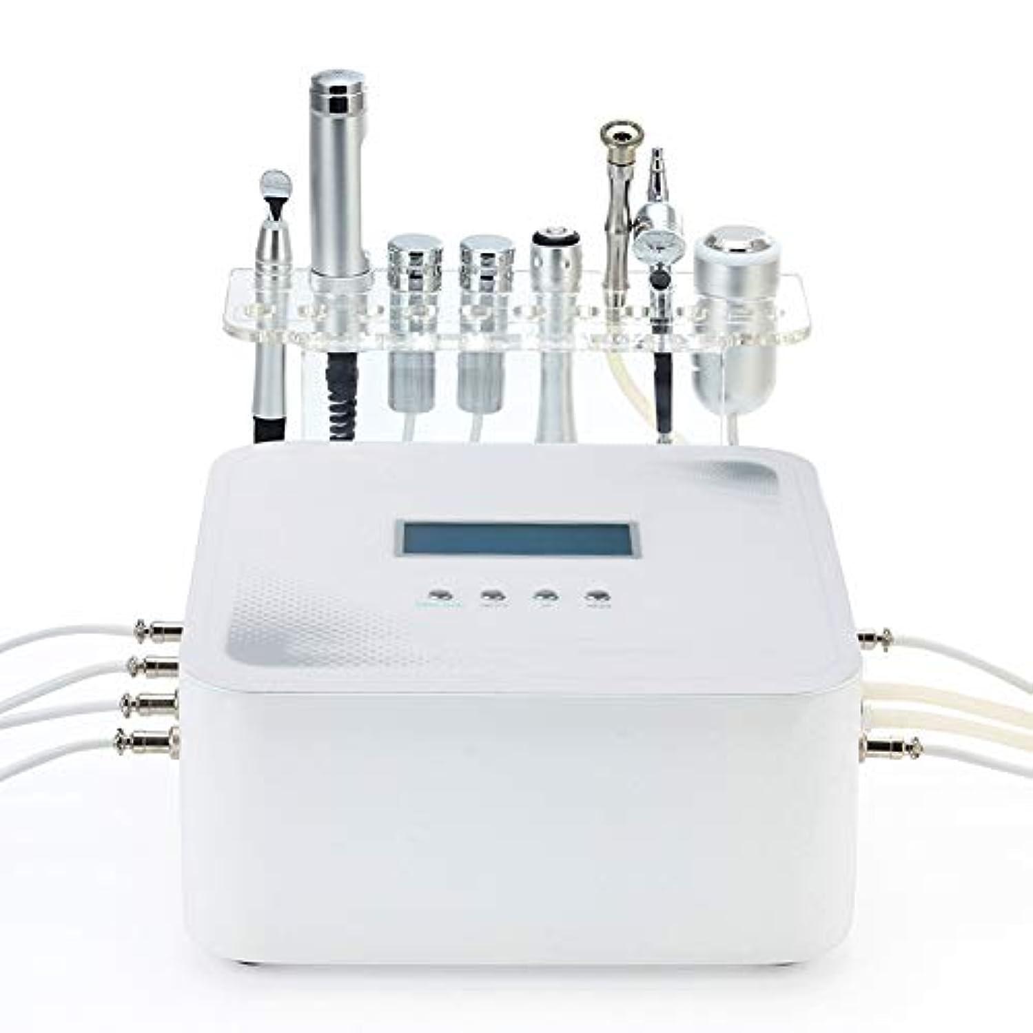 一時解雇する暖かく解釈RFの無線周波数の顔機械、超音波RFの美の器械、皮の若返りのしわの取り外しの皮のきつく締まる心配のための1つの顔機械に付き6つ