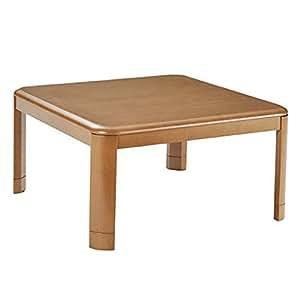 山善(YAMAZEN) 家具調和洋風こたつ(継脚付)(80cm正方形) ブラウン WG-F80H