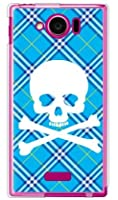 SECOND SKIN スカルパンク ブルー (ソフトTPUクリア) / for AQUOS PHONE SERIE mini SHL24/au ASHL24-TPCL-701-J096