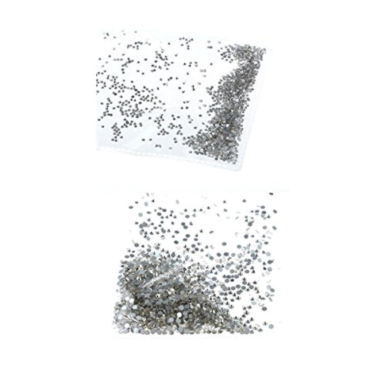 絶滅させる素朴な本部Kesoto ネイルラインストーン ネイルアート ラインストーン クリスタル DIY 装飾 2袋 約2880個