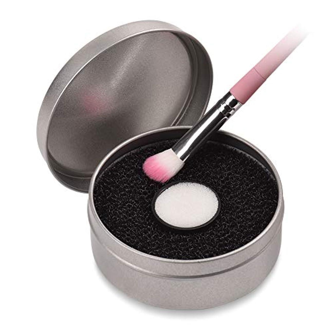 旅行者耐久みすぼらしいブラシクリナー メイクブラシクリーニング キットのカラースイッチ 洗う必要はなく 色を簡単に取り除く ブラシカラー除去スポンジ ブラシクリーナーボックス CtopoGo (ブラック)