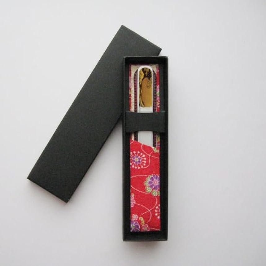蛾配置トチの実の木橋本漆芸 ブラジェク製高級爪ヤスリ 特殊プリント加工 波裏 紙箱